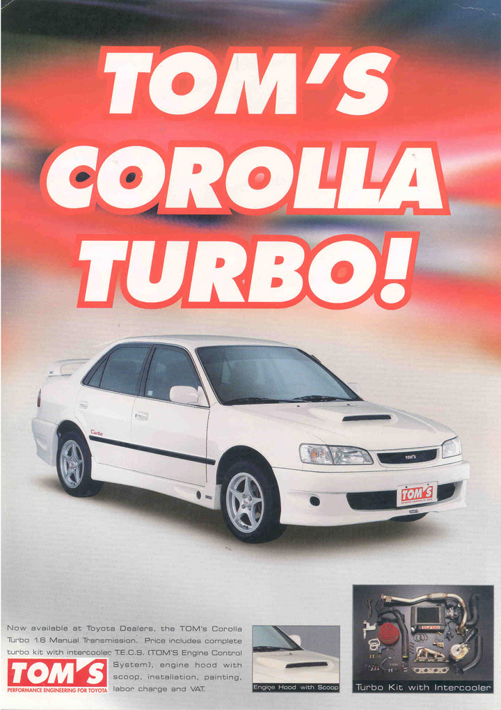 1999 TOM's Toyota Corolla Turbo story