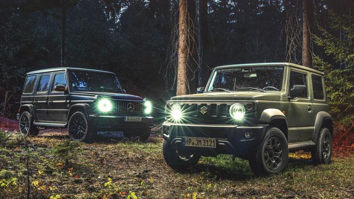 The Mercedes G-Class and Suzuki Jimny finally meet face to face