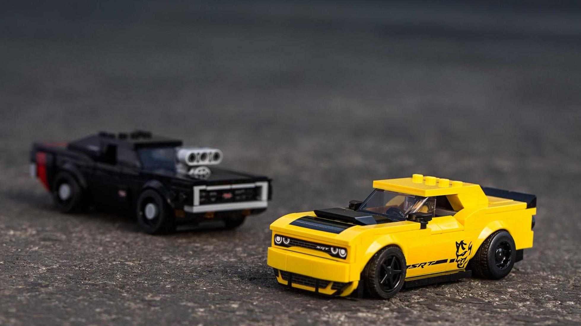 Lego S Latest Speed Champions Set Features Dodge Muscle Cars