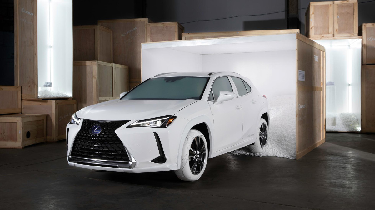 Looks like the Lexus UX has joined the white-sneakers craze