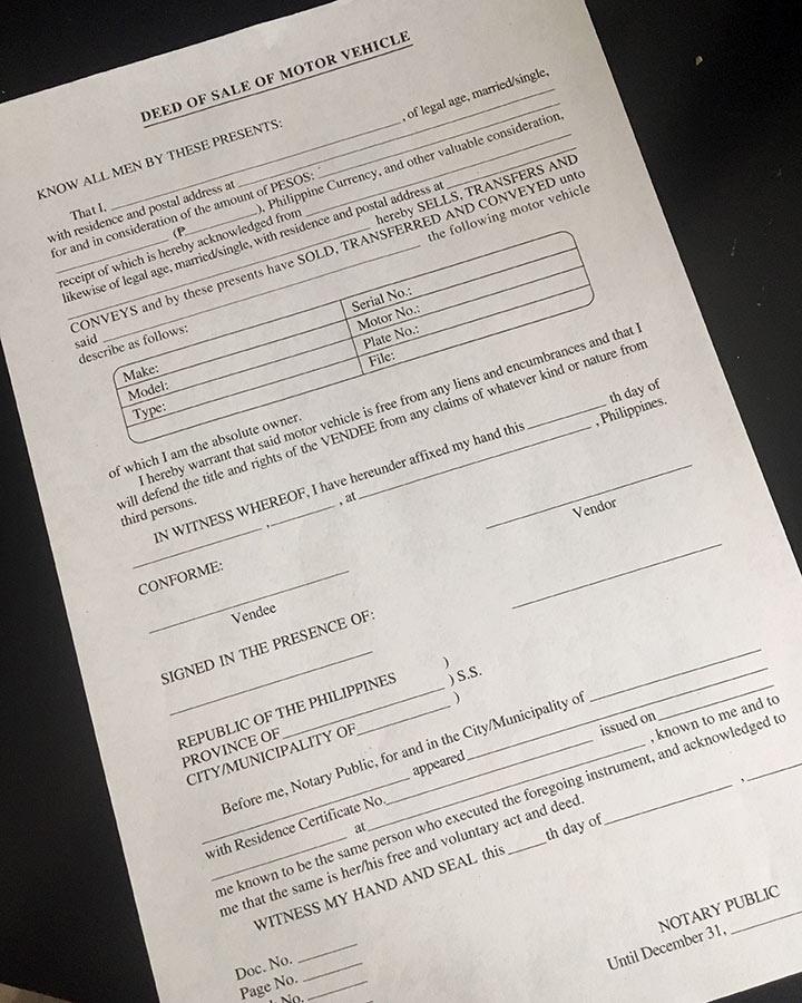 deed of motor vehicle doc