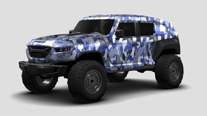 You can now create custom designs for the 2020 Rezvani Tank