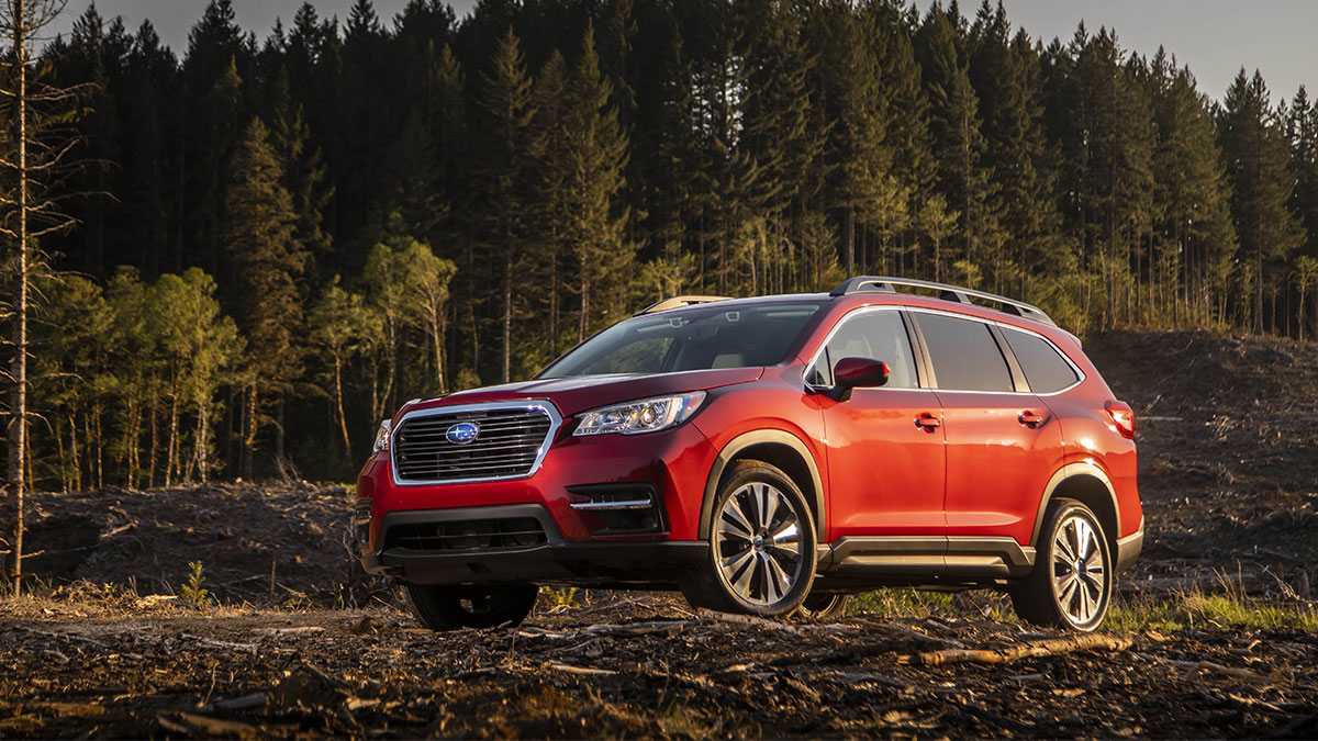 The Subaru Evoltis in the outdoors