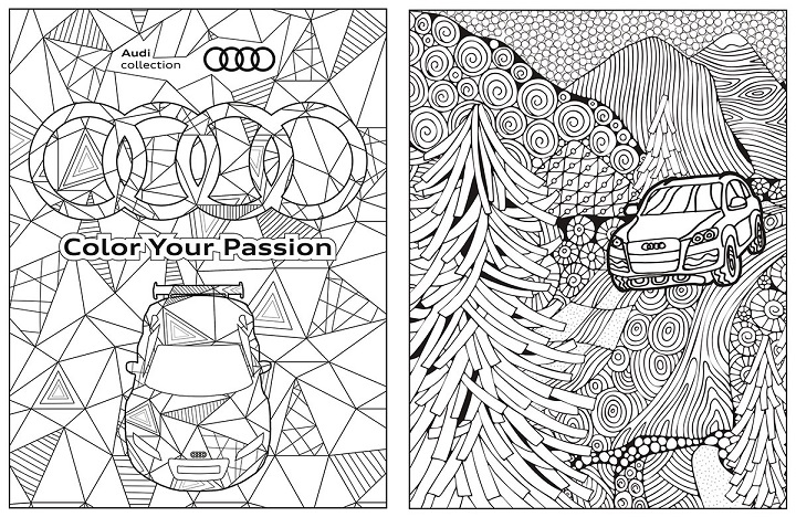 Audi Has Released Its Audi Collection Coloring Book For Free