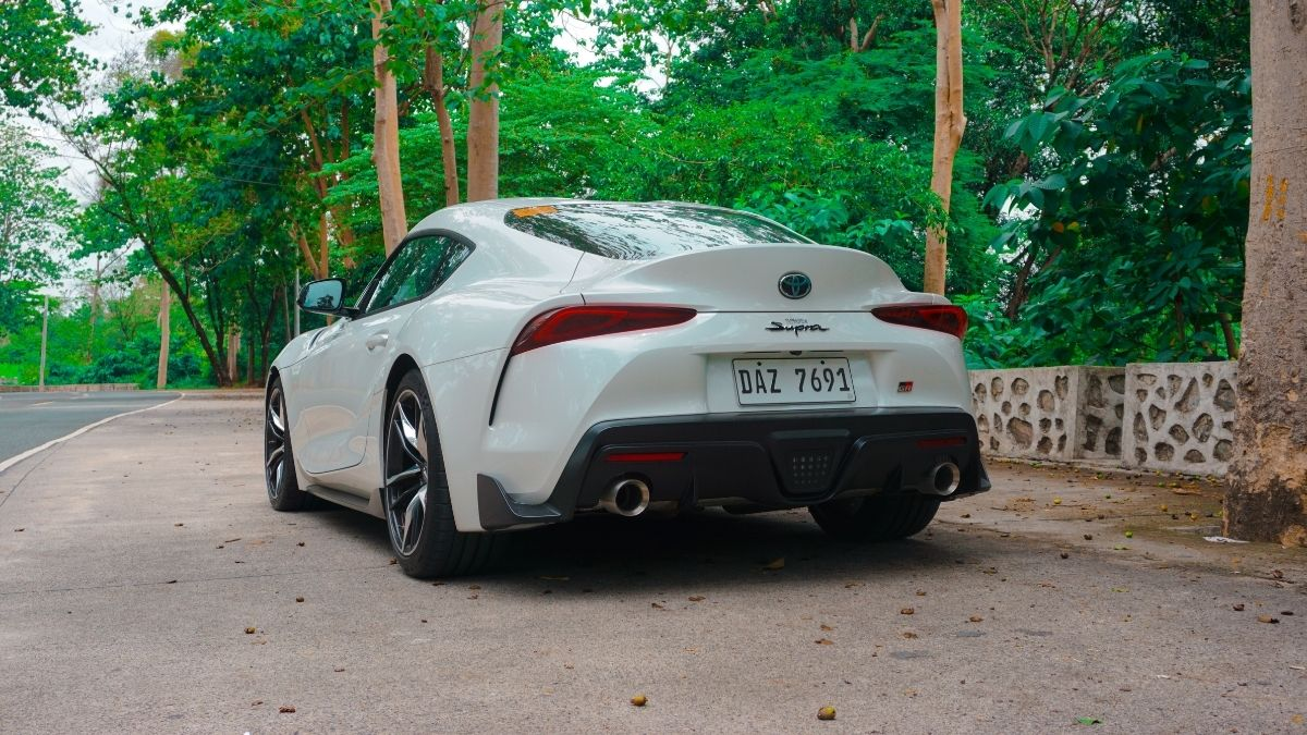 The Toyota GR Supra parked on a side road