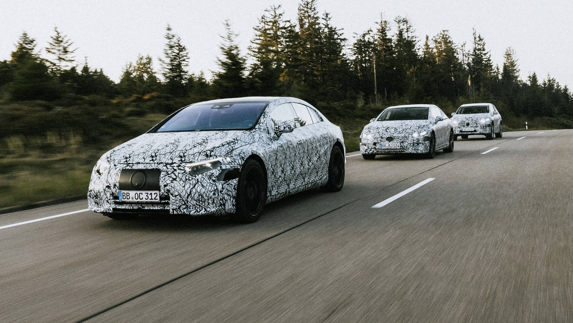 The Mercedes-Benz  EQS - On the Road