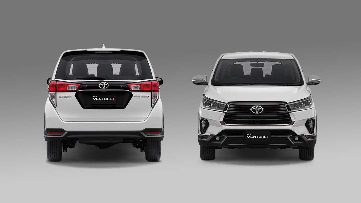 The Toyota Innova Refresh - Fron and Rear View