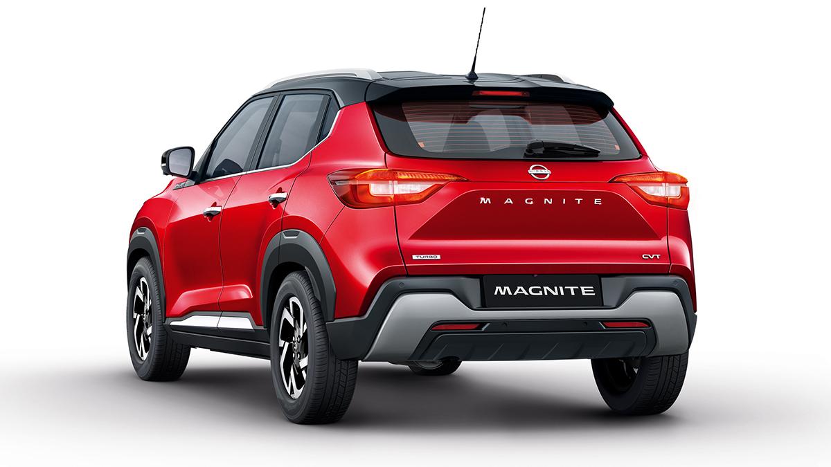 The Nissan Magnite rear angle