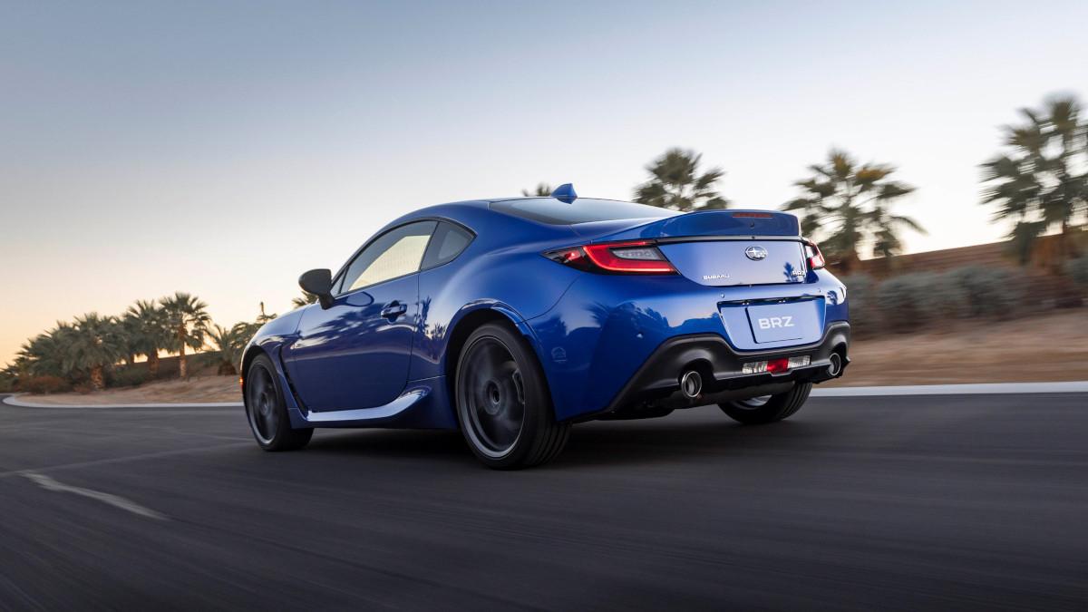The 2021 Subaru BRZ in Blue