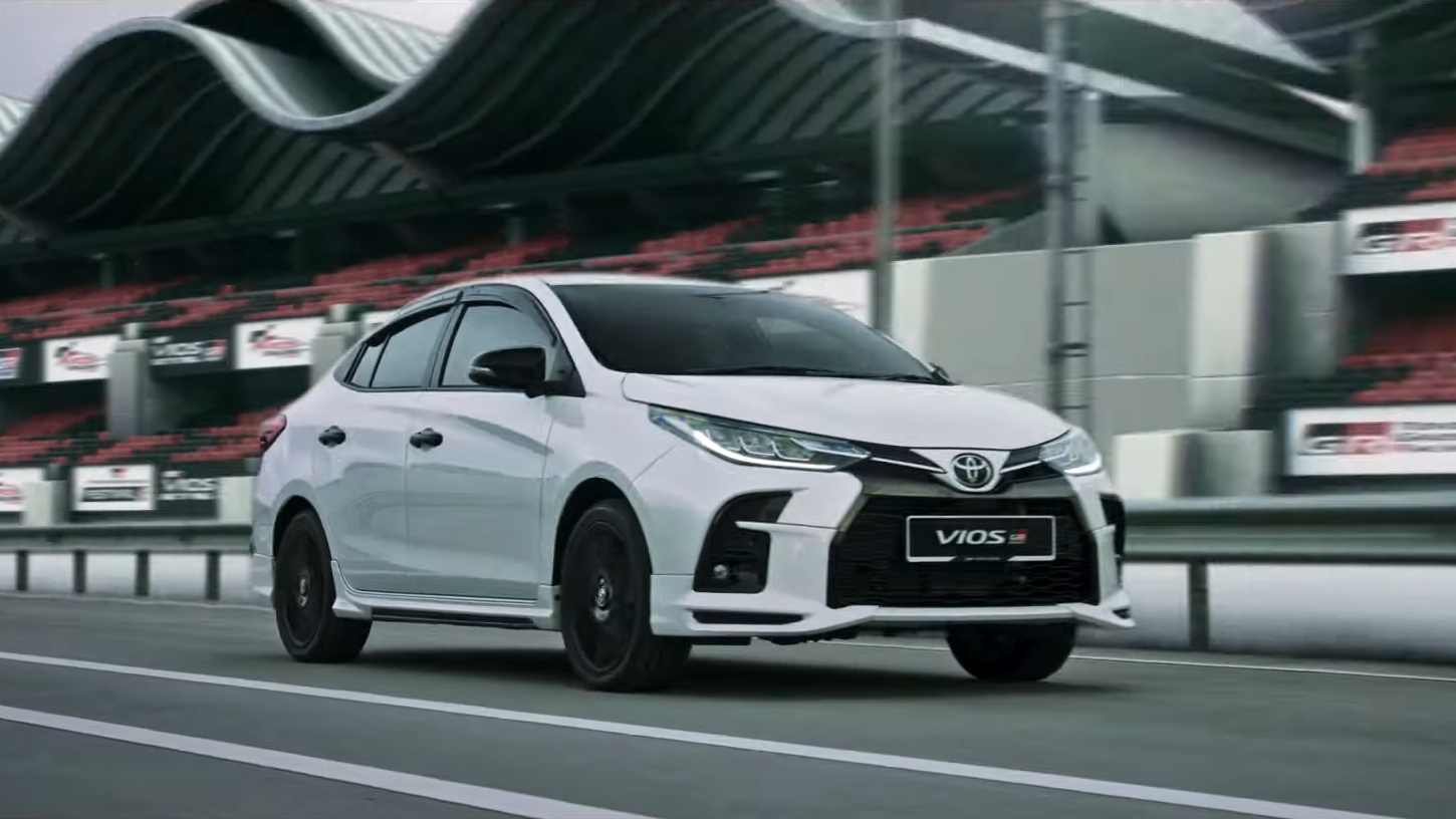 Toyota Vios GR-S on the track