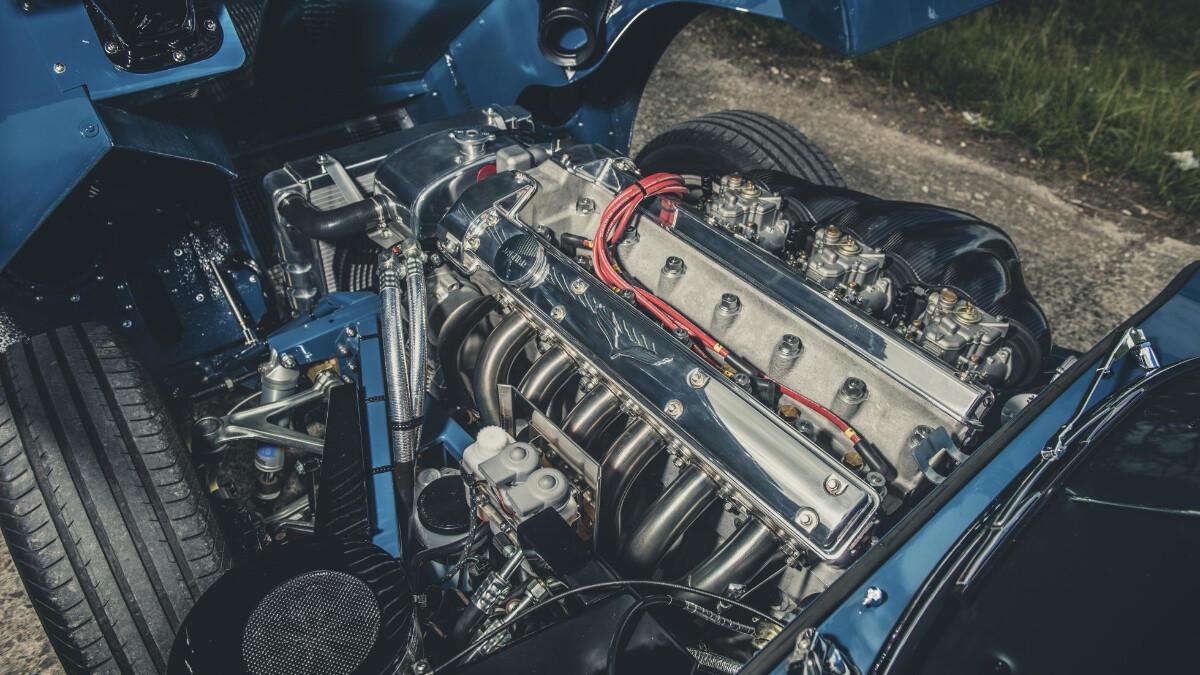 The  Eagle Headquarters - Jaguar E-Type Engine Installed