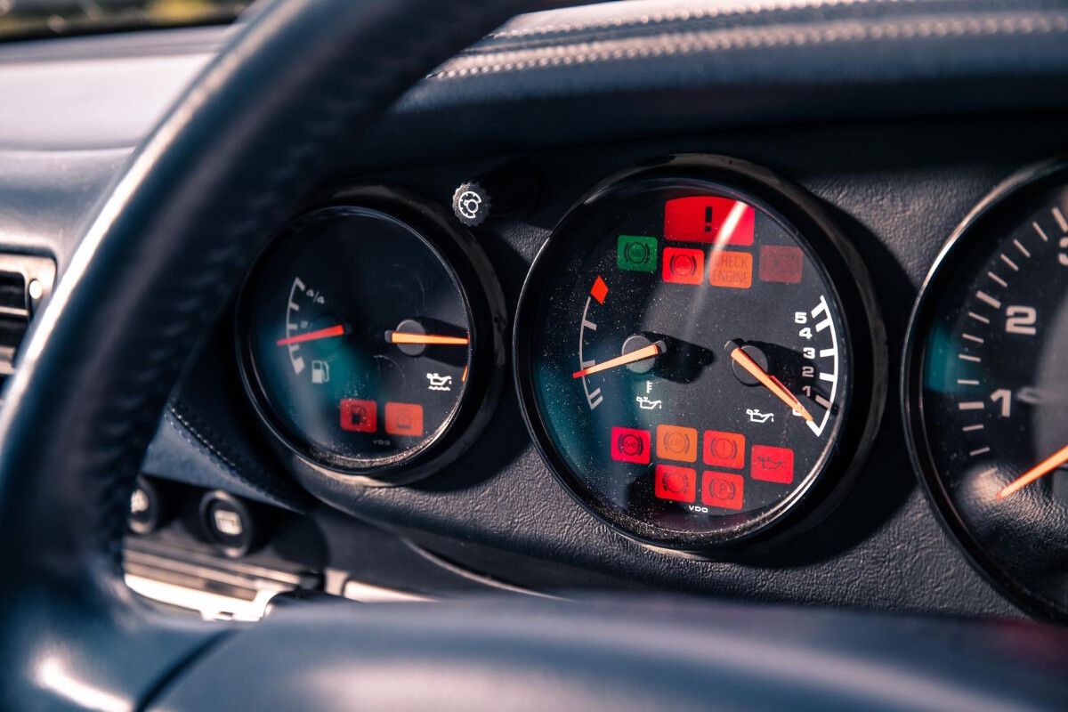 The 1995 Porsche 911 Turbo - Odometer Behind the Steering Wheel