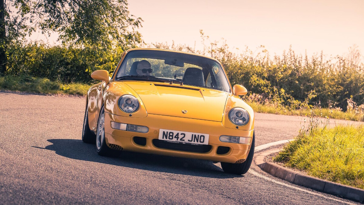 The 1995 Porsche 911 Turbo - On the Road Front View