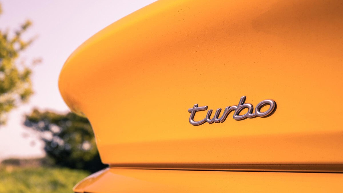 The 1995 Porsche 911 Turbo - Turbo Emblem Rear