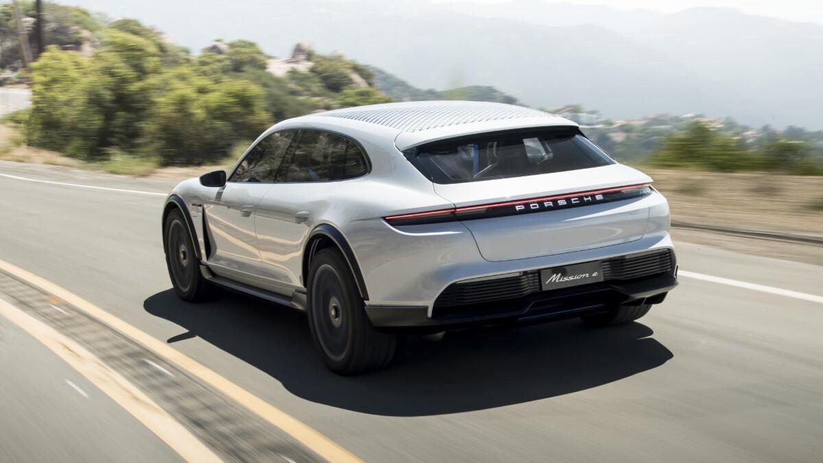 The Porsche Taycan Sport Turismo