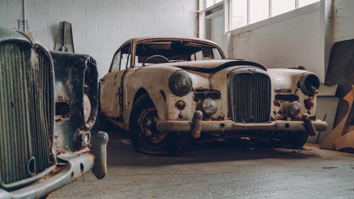 An old Alvis car