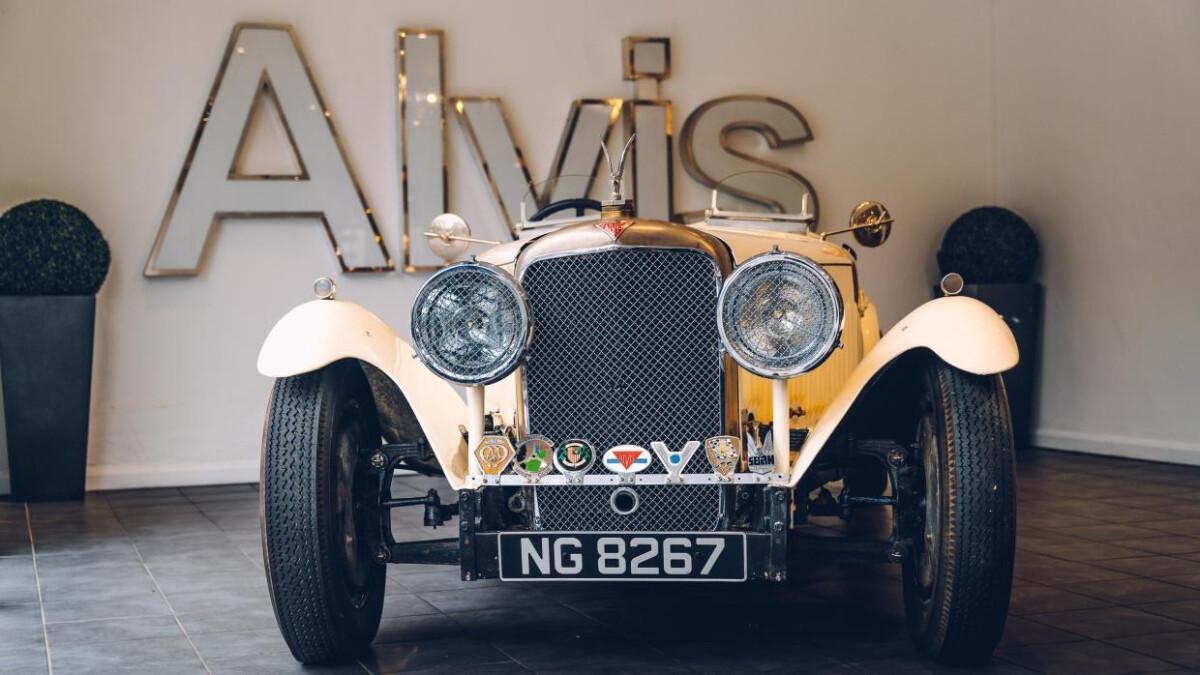 An Alvis Vintage Car