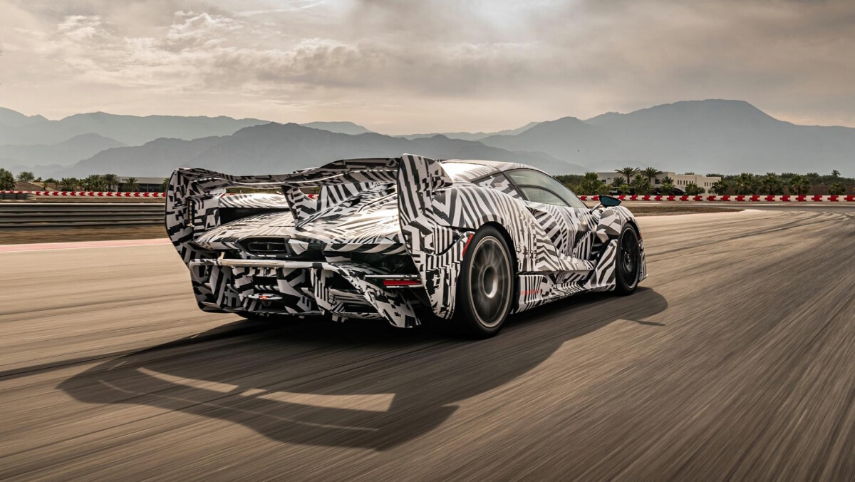 The 2021 McLaren Sabre - On the Road Rear