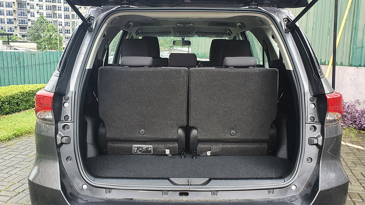 The 2021 Toyota Fortuner - Trunk Space