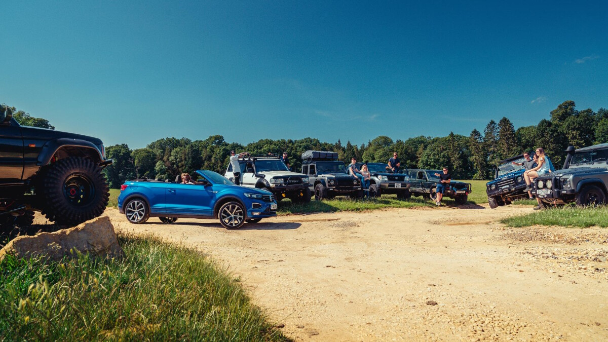 The VW T-Roc Cabriolet with its more rugged company