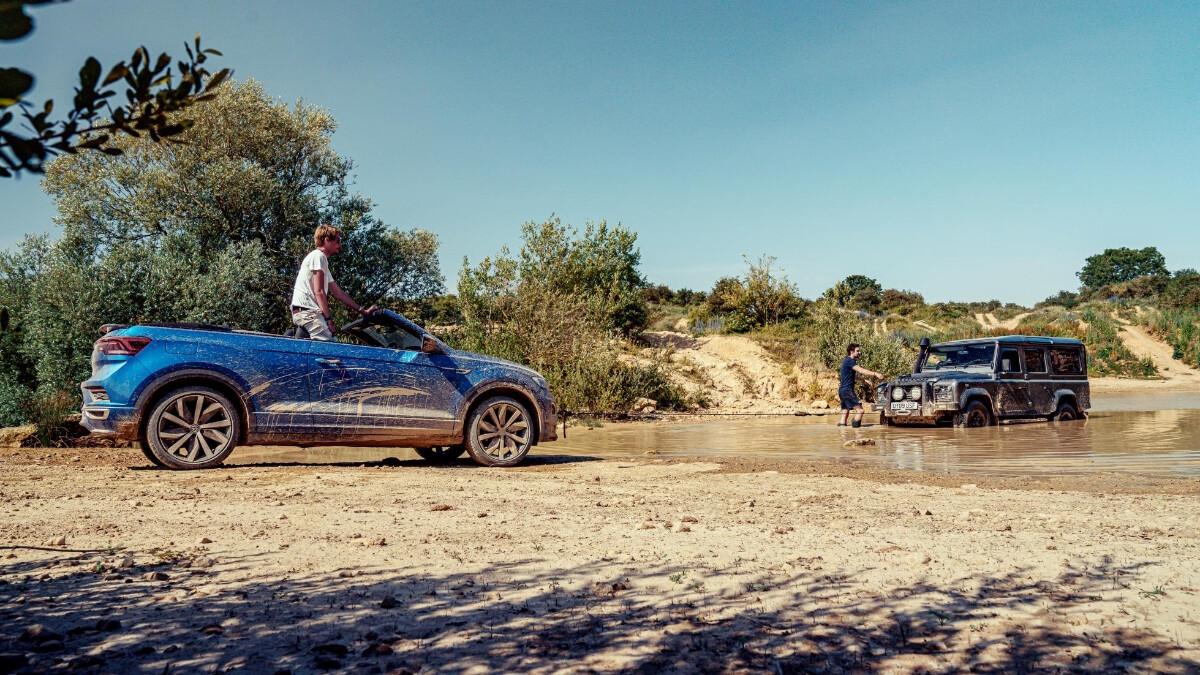 The VW T-Roc Cabriolet versus mud