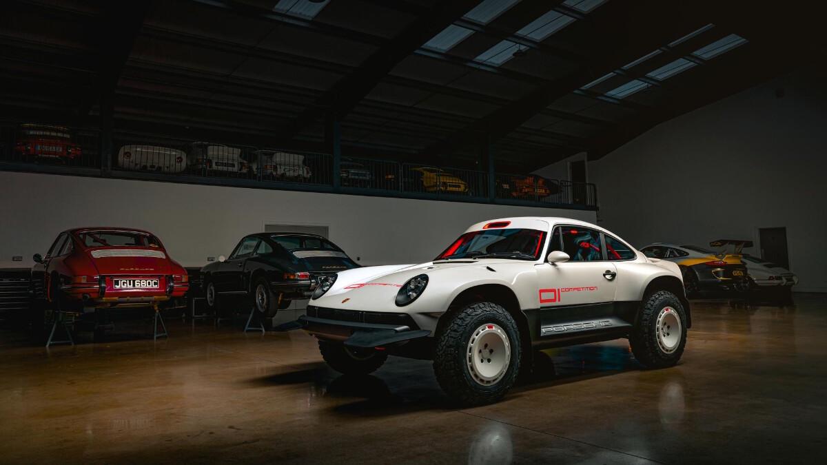 The Singer Porsche 911 All-Terrain Competition Study - Front Feature Garage