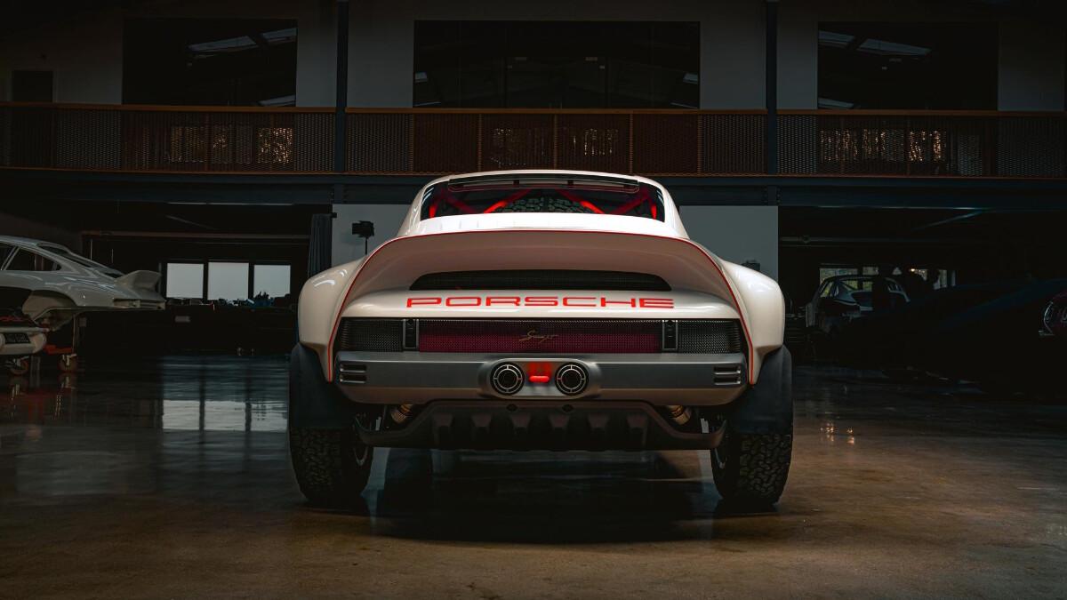 The Singer Porsche 911 All-Terrain Competition Study - Rear