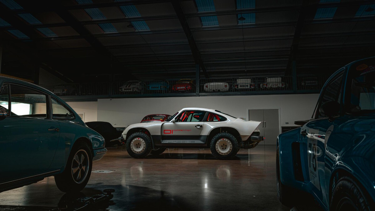 The Singer Porsche 911 All-Terrain Competition Study - Wide Angle Garage
