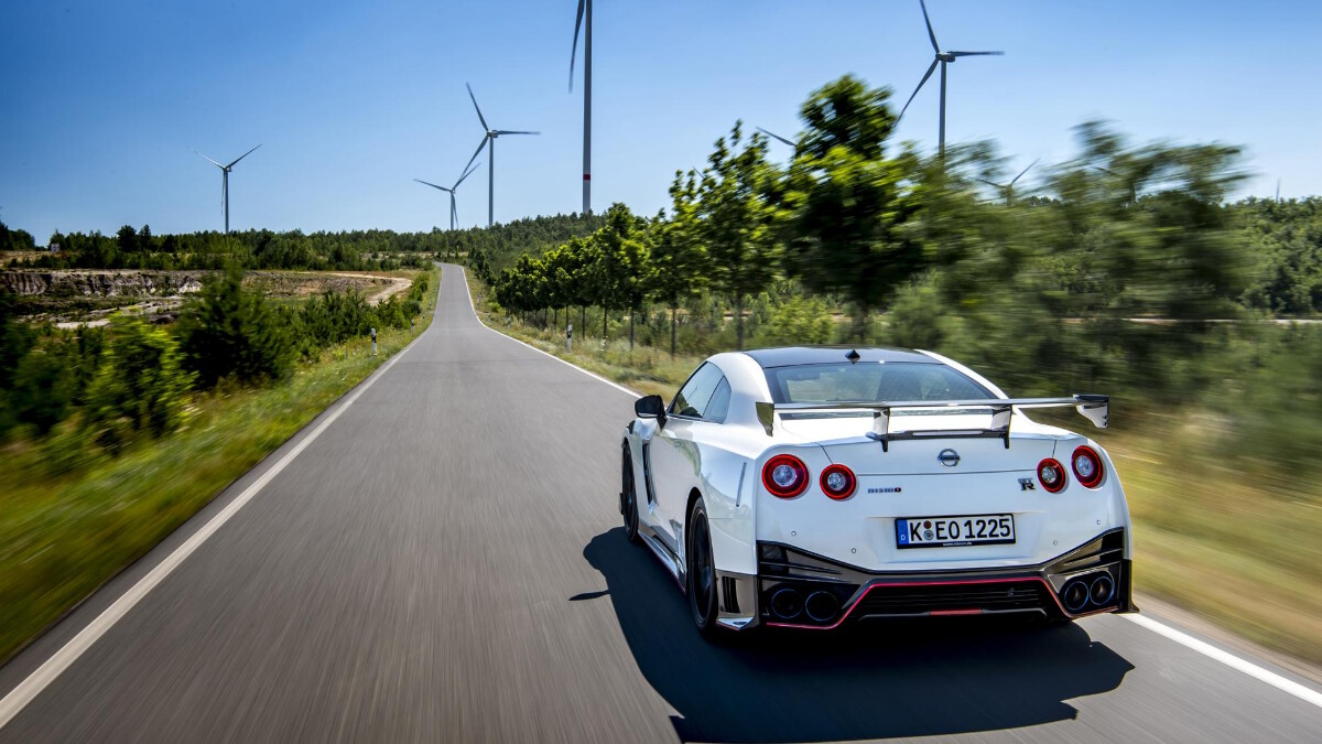 Nissan GT-R Nismo on the road