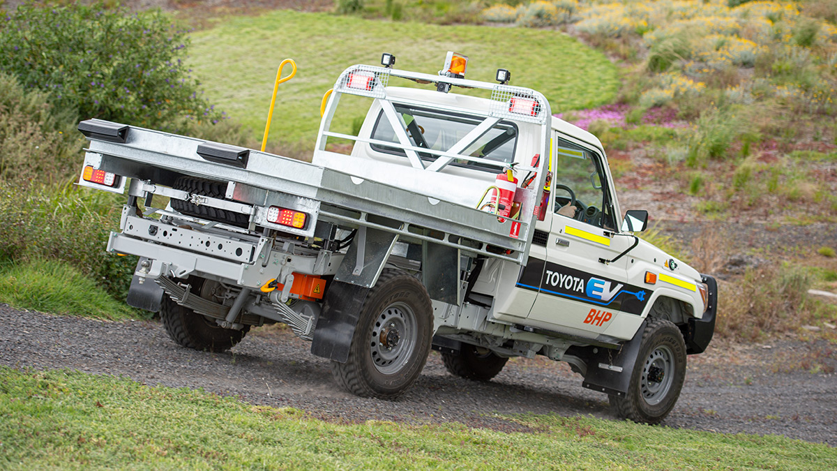 Electric Land Cruiser downhill