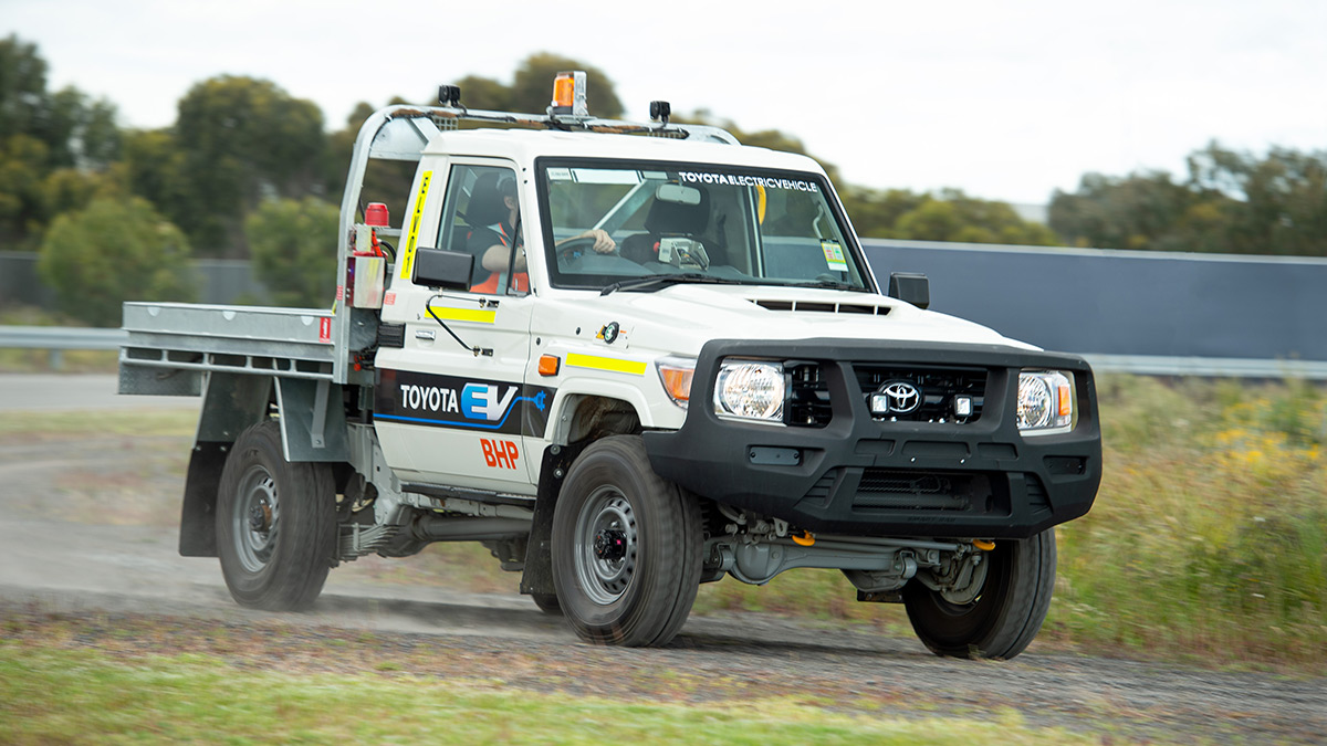 Electric Land Cruiser - Testing in Australia