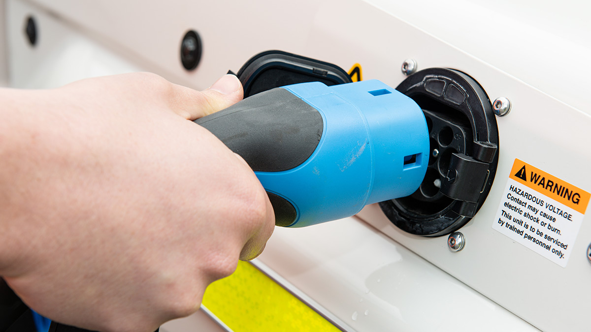 Electric Land Cruiser charging