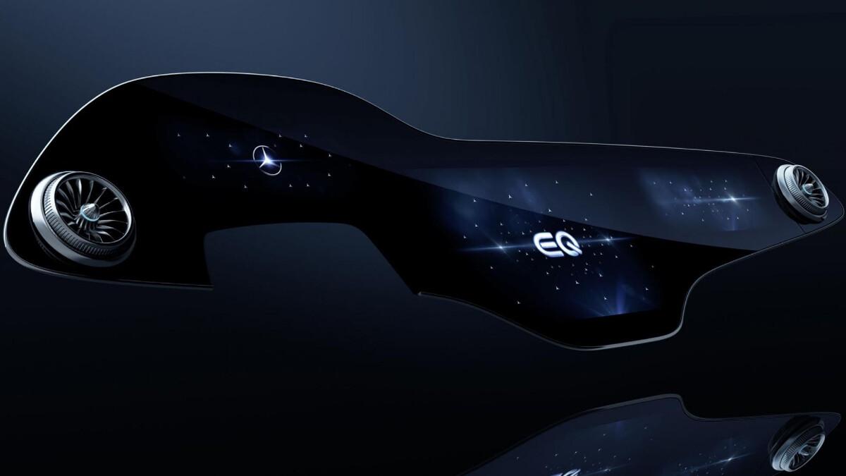 The Mercedes-Benz EQS Hyperscreen
