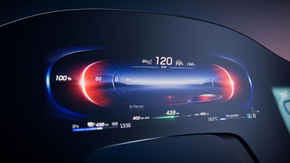 Odometer as seen on the Mercedes-Benz EQS Hyperscreen