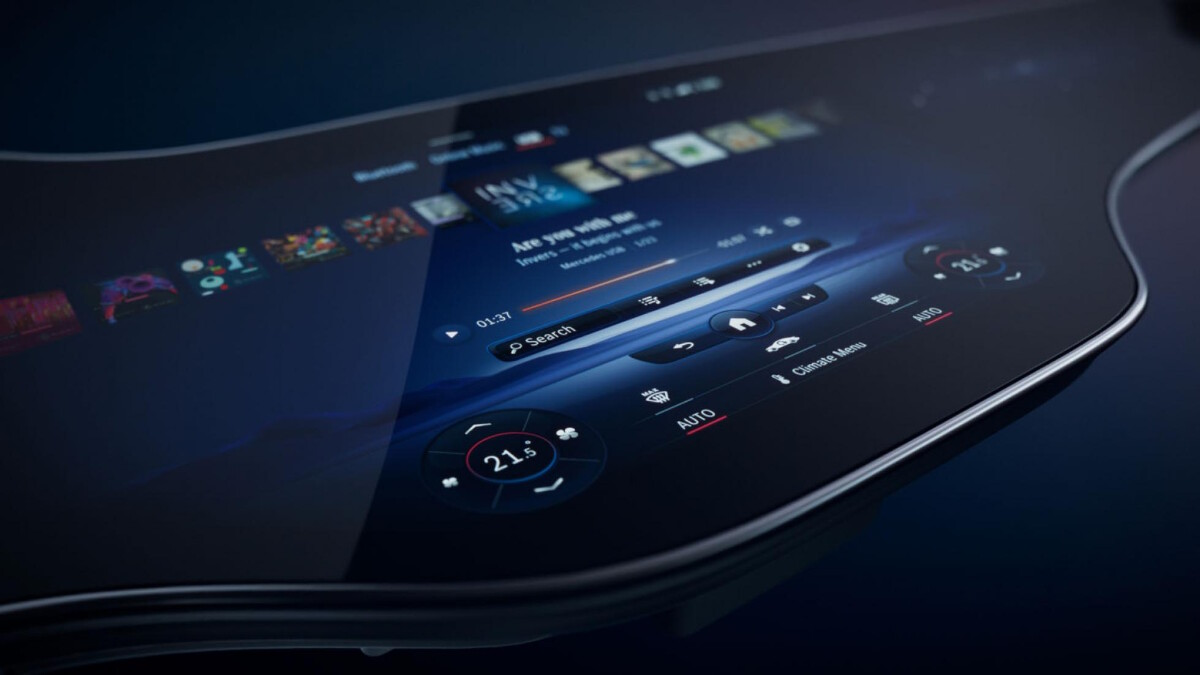 The Mercedes-Benz EQS dashboard, dubbed the 'hyperscreen'