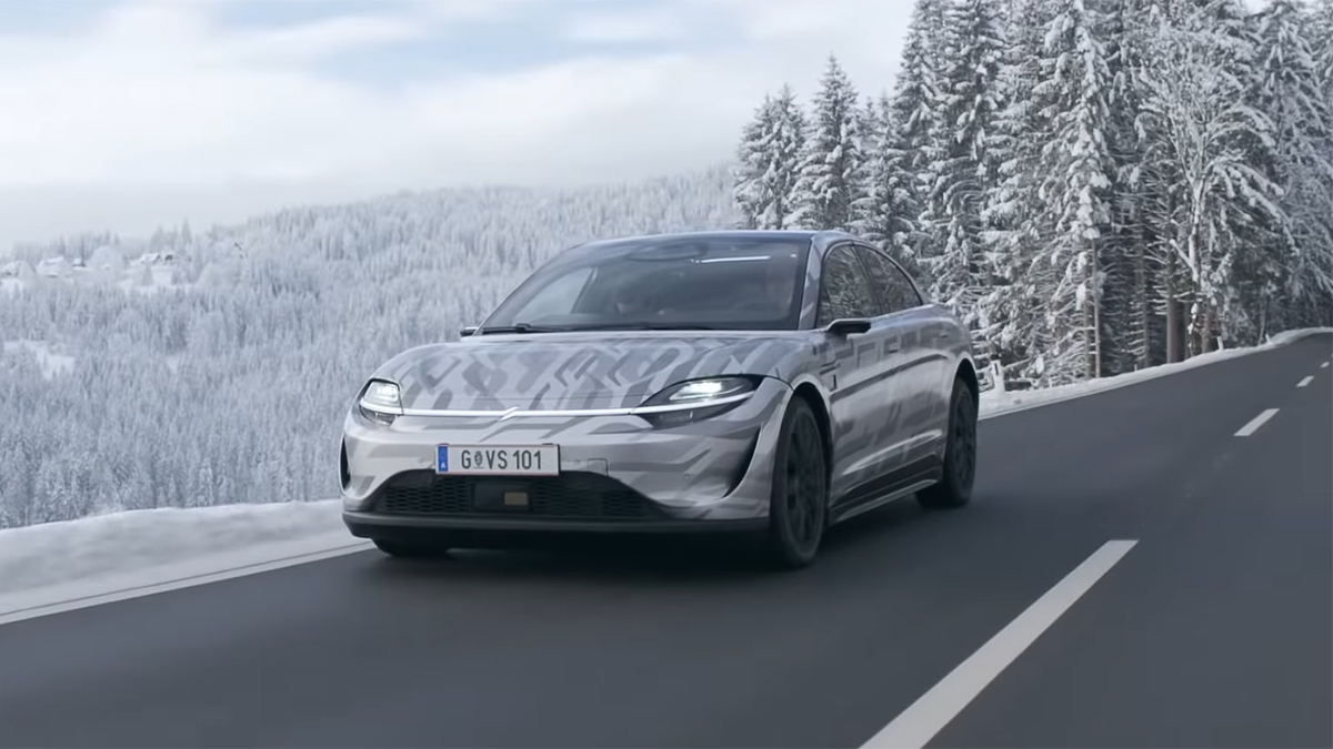 Vision S being Tested in Austria