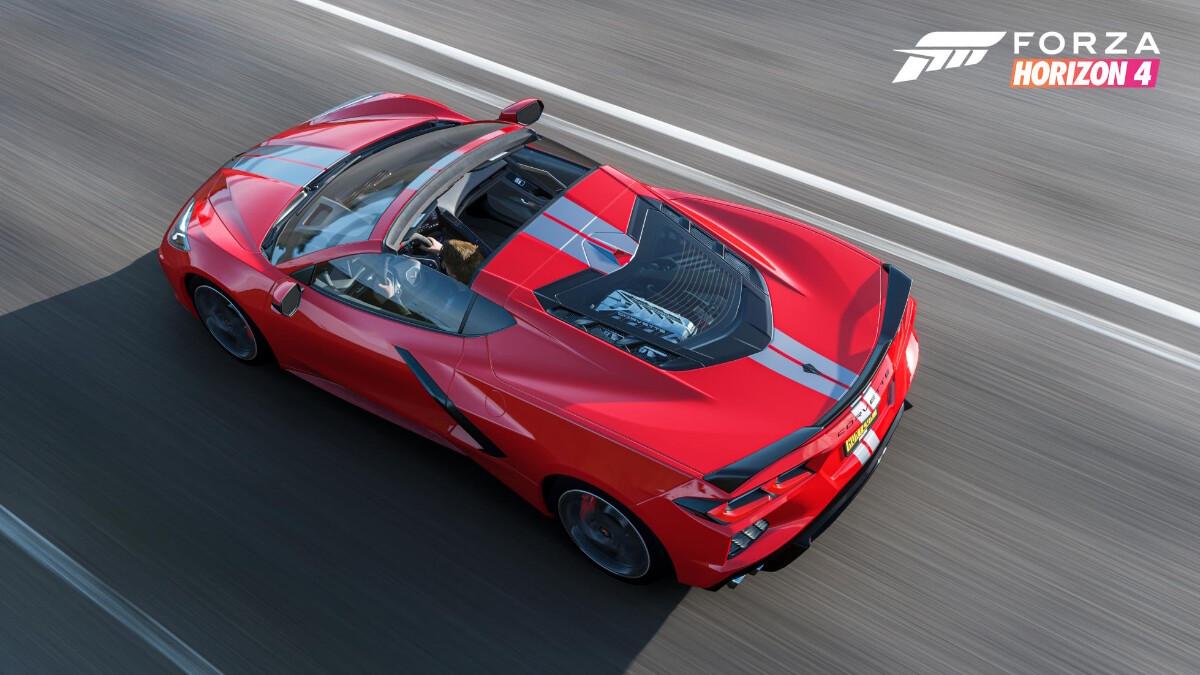 Forza Horizon 4 - Chevrolette Corvette C8 - Top View