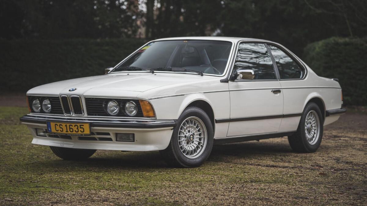 A vintage 1986 BMW 635 CSi