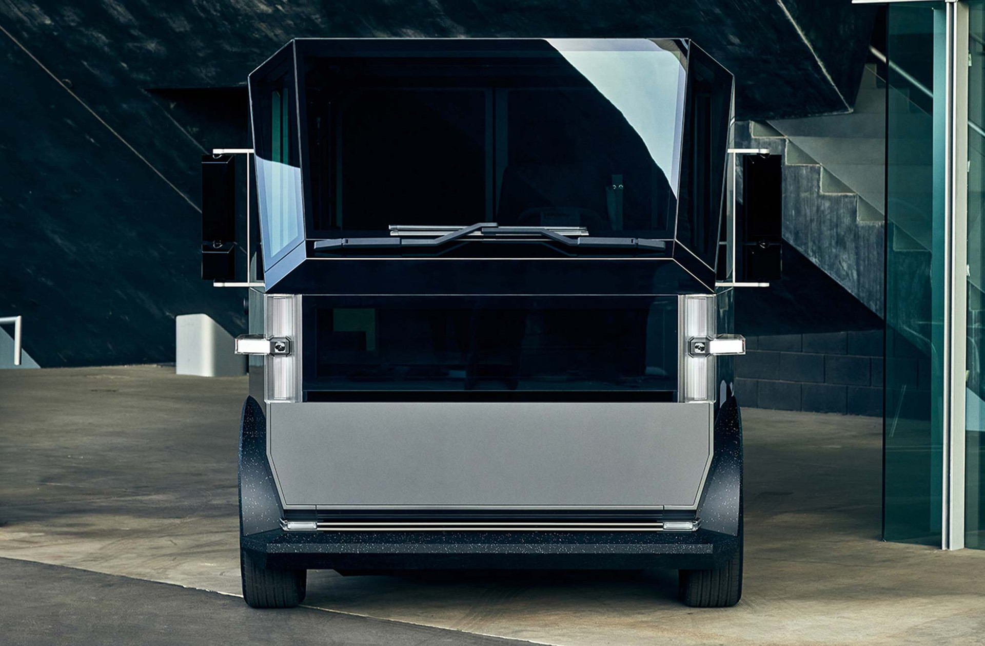 The Canoo multi-purpose delivery vehicle (MPDV) - Front View