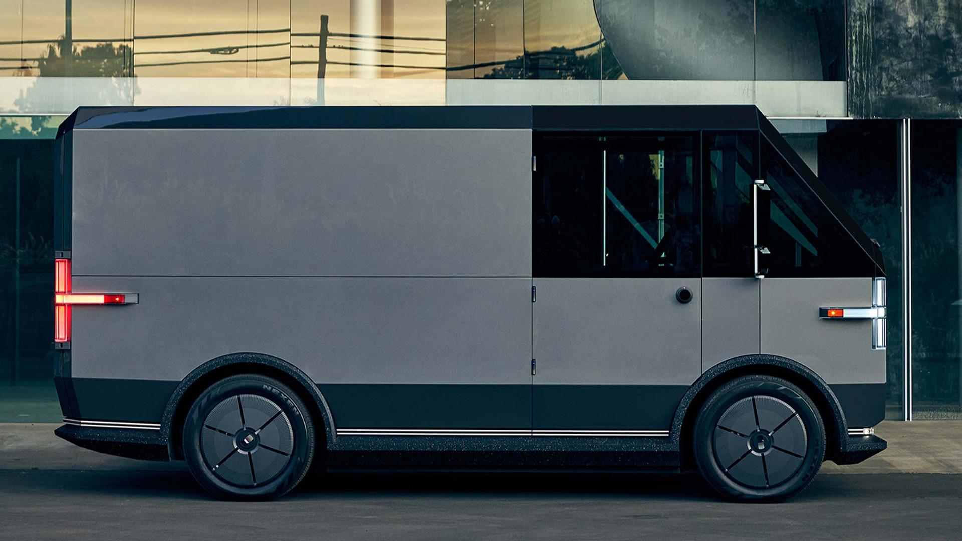The Canoo multi-purpose delivery vehicle (MPDV) - Side View
