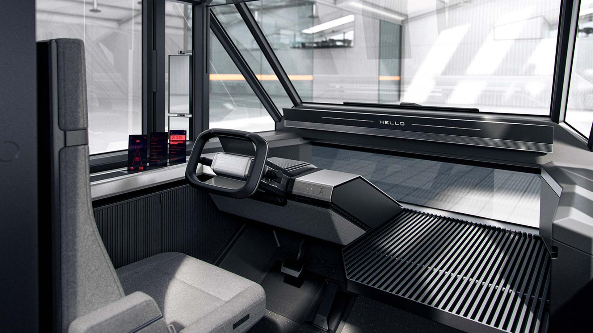 The Canoo multi-purpose delivery vehicle (MPDV) - Interior Concept