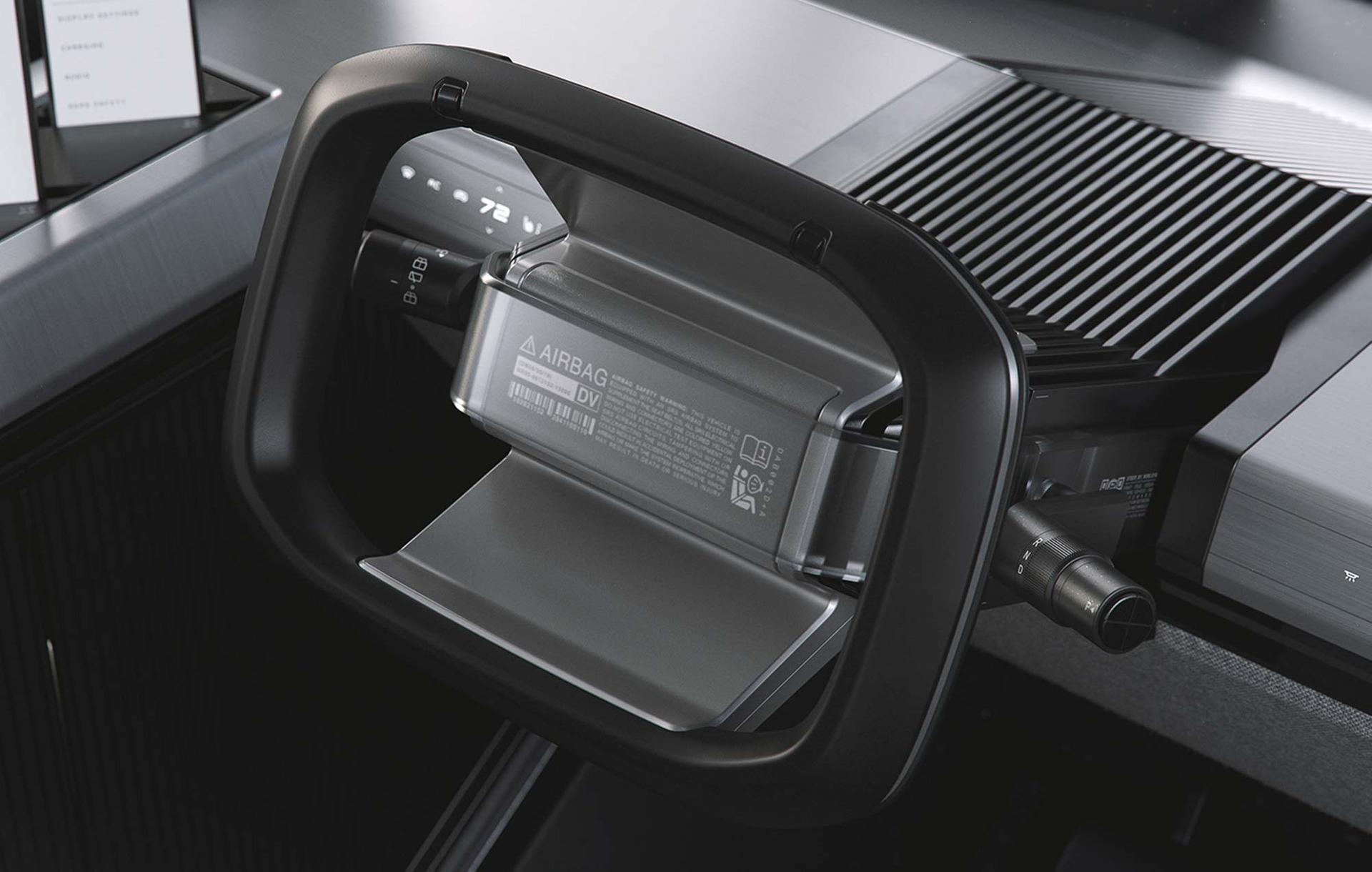 The Canoo multi-purpose delivery vehicle (MPDV) - Driving Wheel