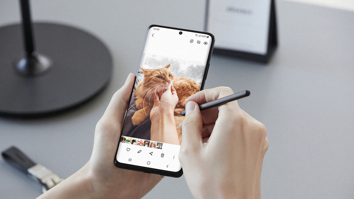 The Samsung Galaxy S21  with Pen