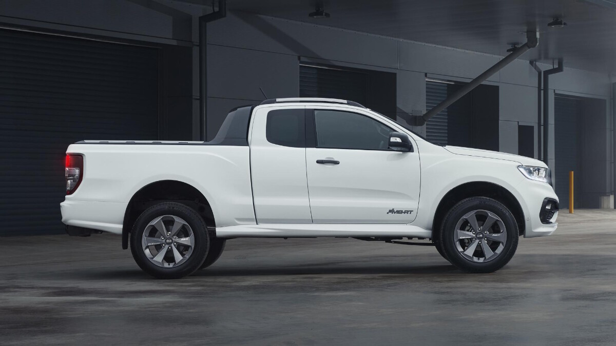 The 2021 Ford Ranger MS-RT - White, Profile