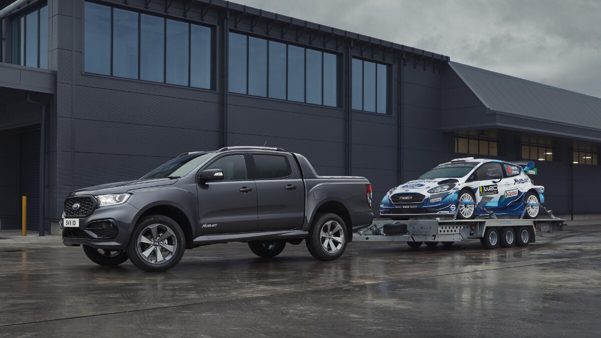 The 2021 Ford Ranger MS-RT - In Action, Pulling a Car