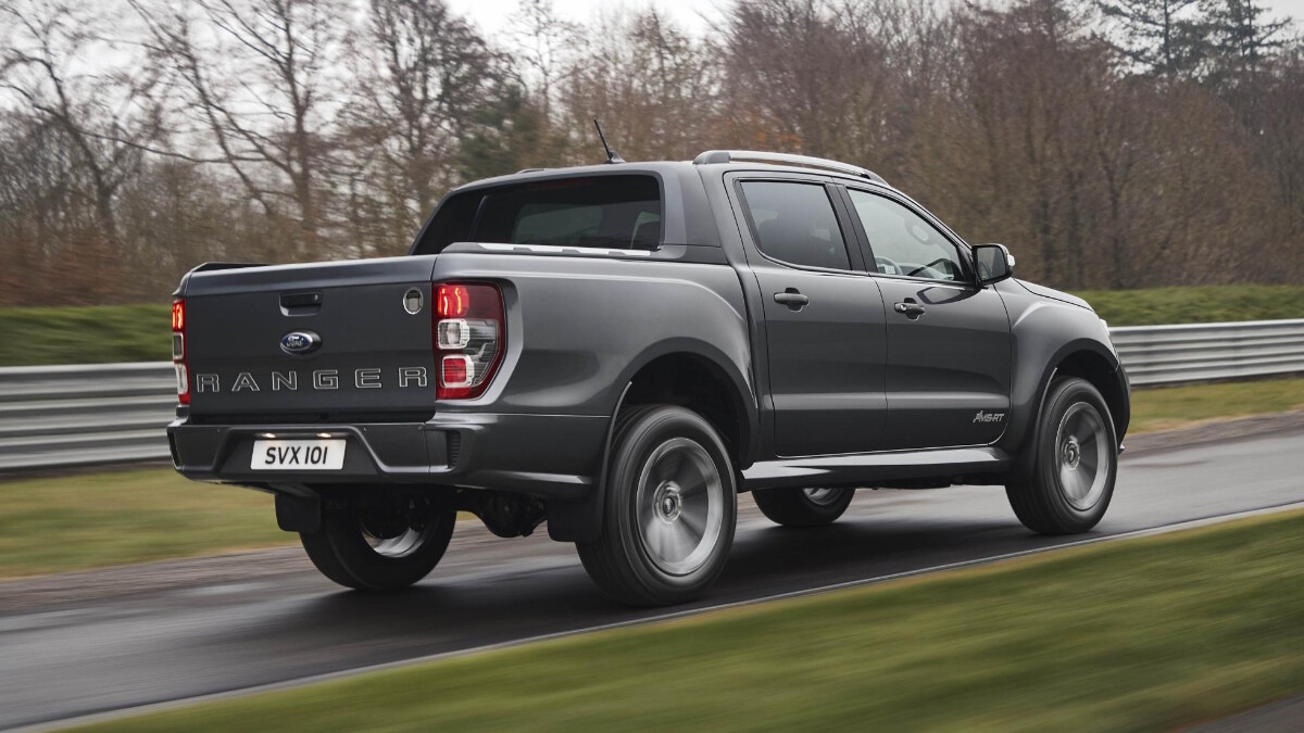 The 2021 Ford Ranger MS-RT - In Action, Rear Angle