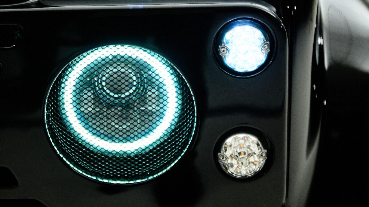 The Land Rover Defender modified by Ares Design - Headlamp Detail
