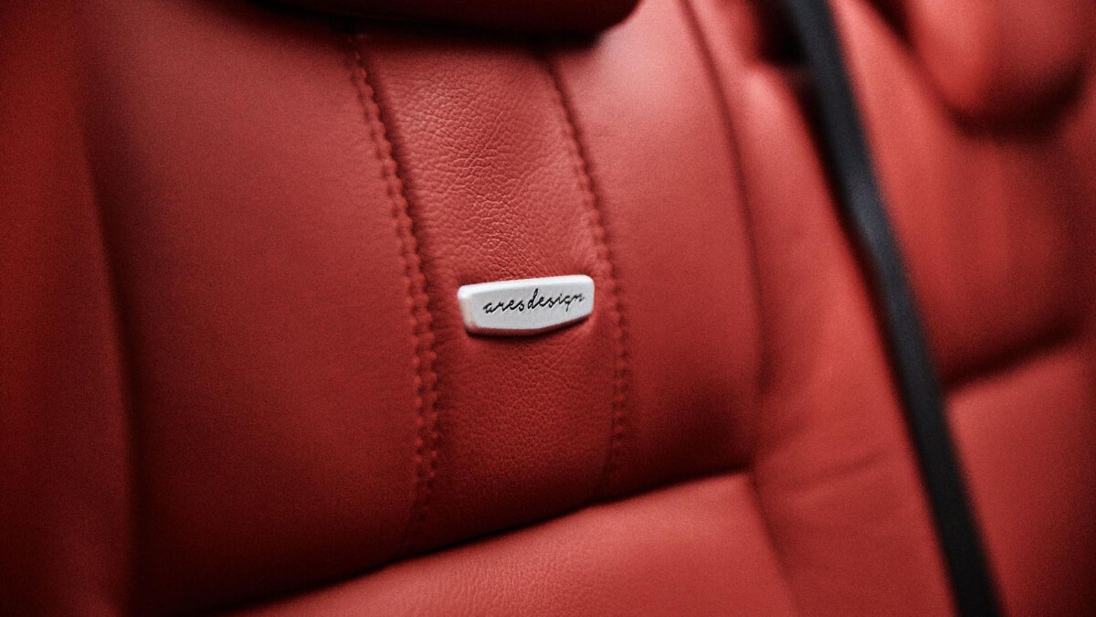The Land Rover Defender modified by Ares Design - Leather Seat Detail