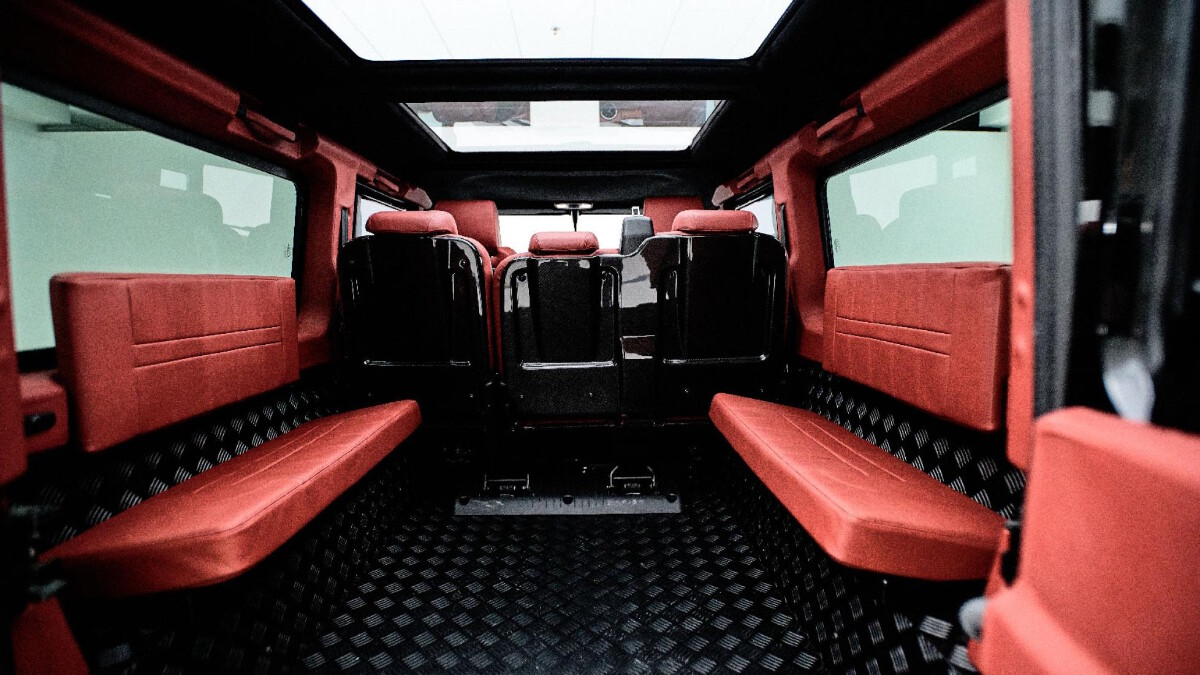 The Land Rover Defender Interior modified by Ares Design
