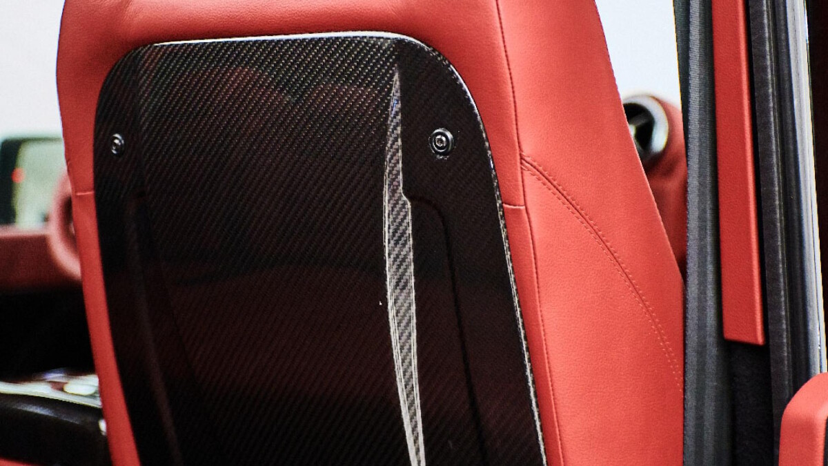The Land Rover Defender modified by Ares Design - Front Seat Back Detail